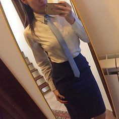 Neckties, Asian Woman, Cool Outfits, Tights, Blouse, How To Wear, Shirts, Women, Fashion