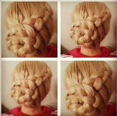 Braided bun Irish Dance hair