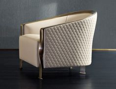 Nella Vetrina Rugiano Paris 6080 Arm Chair In White