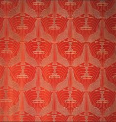 """Poppyheads"" / Panel designed by Koloman Moser / Austria, Vienna / 1900 / silk, wild silk, and cotton"