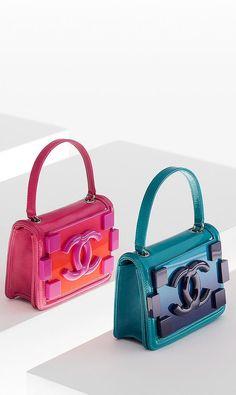 Chanel flap bags ~ Plexiglas, patent calfskin