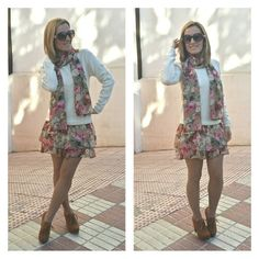 Combi dress with flowers! By Cuca Boutique!
