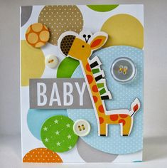 T.G.I.F! I have a couple of baby cards to share with you today. Both projects created with a polka dot theme. Babies and polka dots just go...