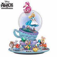 Disney-Schneekugel-Alice-im-Wunderland-Weisser-Hase-Nagel-NEU-in-Box-selten-WOW