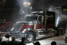 So, this is the New International Lonestar semi-truck. Except it isn't a Kenworth, Dad would love this!