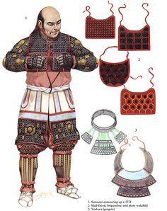 Samurai putting on his armour by Angus McBride