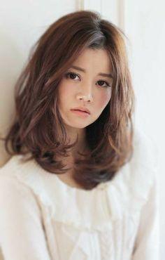 Image result for korean perm medium length Medium Hair Cuts, Medium Hair Styles, Short Hair Styles, Hair Color And Cut, Haircut And Color, Permed Hairstyles, Pretty Hairstyles, Asian Hair, Layered Hair