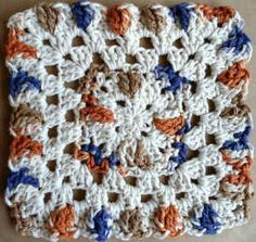 #201 African Sunset Crochet Dishcloth – Maggie Weldon Maggies Crochet - love this free pattern, hope I'm up for it :-)