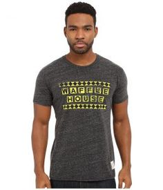 The Original Retro Brand Tri-Blend Short Sleeve Waffle House Tee (Streaky Black) Men's T Shirt