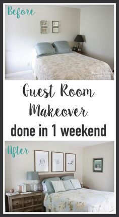 Wow! This blog is full of awesome DIY home decor ideas, like this quick and easy guest room makeover that was completed in one weekend!