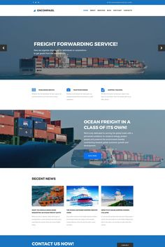 Maritime Responsive Moto CMS 3 Template #63786
