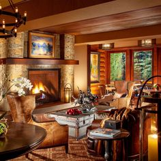 Rustic Inn Creekside Resort and Spa at Jackson Hole Jackson, Wyoming Budget Country Family Fireplace Lobby Lodge Lounge property home living room mansion recreation room cottage