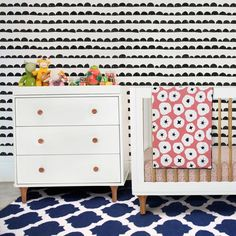 Both storage and a diaper changing area, the Lolly 3 Drawer Dresser Changer from Babyletto is an adorable partner for the Lolly Convertible Crib. 3 Drawer Dresser, Drawers, Turn The Lights Off, Convertible Crib, Nursery Inspiration, Modern Lighting, Cribs, Baby, Storage