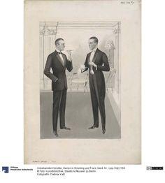 Herren in fumo und Frack, 1920