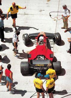 René Arnoux, Ferrari 126C4, 1984 Dallas Grand Prix