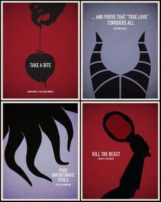 Disney Villains Minimalist Posters