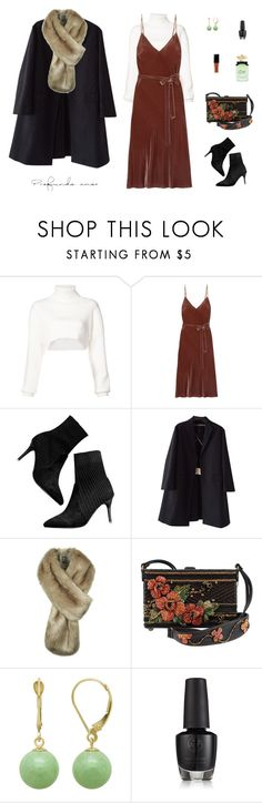 """""""Fur scarf"""" by mariagraziatrotta ❤ liked on Polyvore featuring Alexandre Vauthier, Frame, Rochas and Dolce&Gabbana"""
