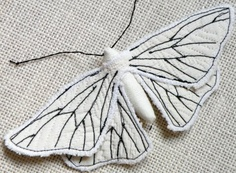Want sooo much! Handmade Fabric Moth Brooch - Textile Lepidoptera - Made to Order. €30.00, via Etsy.