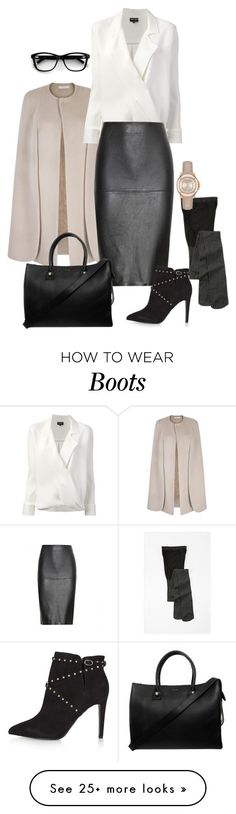 featuring Giorgio Armani, By Malene Birger, Topshop, Paul & Joe and Burberry Business Outfit Frau, Business Outfits, Business Fashion, Office Fashion, Work Fashion, Fashion Looks, Fashion Fashion, Fashion Tips, Komplette Outfits