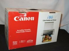 $50.99 Only! ~ Canon i80 Portable Printer Color Bubble Jet Bluetooth USB Wireless NEW IN BOX CLICK HERE! #CheapPrinter, #PrinterScannerCombo, #CheapPrinterLaser, #WirelessPrinterSale, #PrinterScannerSale, #PrinterCopierSale, #UsedPrinter Portable Printer, Wireless Printer, Printer Scanner, Laser Printer, Cheapest Printer, Canon, Jet, Bluetooth, Bubbles