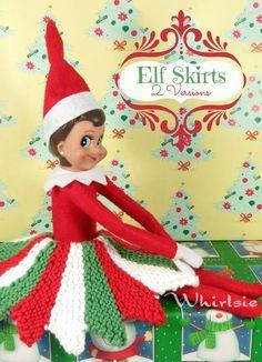 Elf on the Shelf skirt knitting pattern on Craftsy #elfontheshelf
