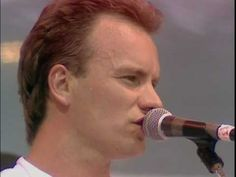 Sting and Phil Collins, with Branford Marsalis, performing 'Every Breath You Take' at the Live Aid concert, July Kinds Of Music, Music Love, Rock Music, Music Music, Phil Collins, Live Aid, Rock Videos, Jazz, Music Clips