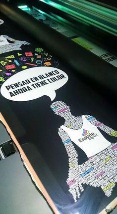 HECHO EN ESPAÑA DIGITAL WWW.ESPANADIGITAL.COM.MX Impresión en cama plana sobre rígidos , ahora con tinta blanca #imprimeblanco #camaplana #CMYK+W
