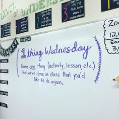 One Thing Wednesday-white board messages School Classroom, Classroom Activities, Classroom Organization, Classroom Management, Classroom Ideas, Classroom Whiteboard, Behavior Management, Feedback For Students, Leadership