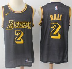 2514c18e7 Nike Lakers  2 Lonzo Ball Black NBA Swingman City Edition Jersey