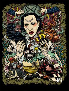 ' Batcave Heart : Marilyn Manson ' by Marie Meier