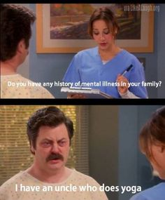 """When he was completely serious about something that others would think is a joke. 26 Times Ron Swanson Was The Funniest Character On """"Parks And Recreation"""" Tv Quotes, Funny Quotes, Funny Memes, Jokes, Funny Cartoons, Humor Quotes, Movie Quotes, Parks And Recreation, Parks And Recs"""