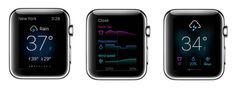 Yahoo Weather Apple Watch app, nice and clean
