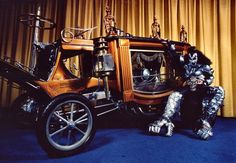 Jean Simmons with the 'Boothill Express' by George Barris,