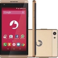 Smartphone Positivo S455 Dual Chip Desbloqueado Oi Android 5.0.2 (Lollipop) Tela 4.5 8GB 3G Câmera 5MP - Dourado