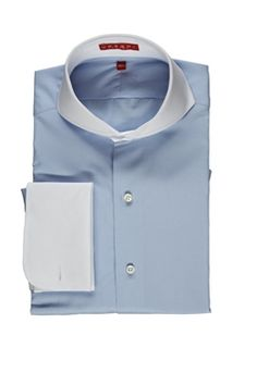 The Udeshi signature piece; Extreme cutaway collar shirt. Part of every well dressed Gents ensemble. Nothing else cuts it.