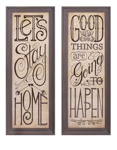 $219.00 IMAX Vicente Wall Decor - 2 Asst Pcs Message boards: Vertical framed prints get the point across with vintage fonts.