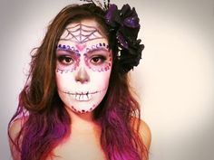 ▶ Day of the Dead Halloween Makeup Speed Art - YouTube