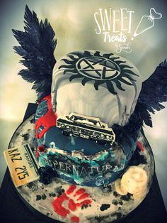 Supernatural Birthday Cake #supernatural Edible Wafer Paper Wings