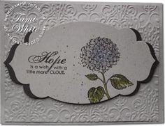 Stampin Up Best of Flowers Hydrangea card and video