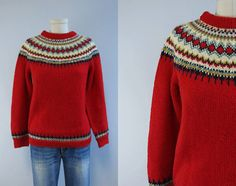 Label: Bergenskofter A/S Norway Knitted by Hand