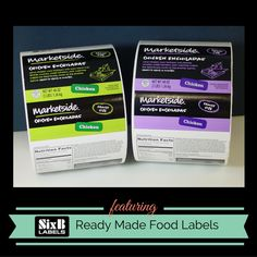 Custom + Ready Made + Food Label for Marketside