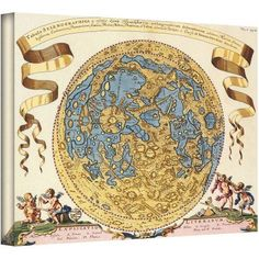 Joanne Hevel World Globe Gallery-Wrapped Canvas, Size: 26 x 32, White