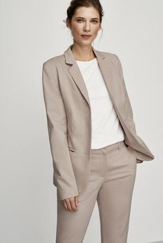 #NewYear #Long Tall Sally - #Long Tall Sally Tall Women's Clean Sharp Suit Jacket in Oyster - Size 6 at Long Tall Sally - AdoreWe.com