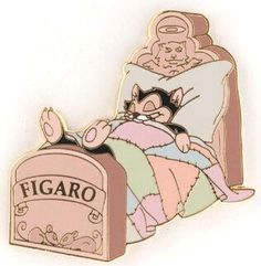 Figaro in bed pin from Fantasies Come True
