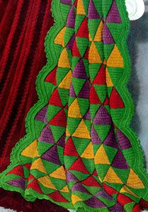Harlequin Afghan - Free Crochet Pattern - originally published by Star Afghan Book, Book No. 17 - This is a neat pattern!