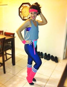 80's Aerobics Instructor - The American Apparel Halloween Contest 2012