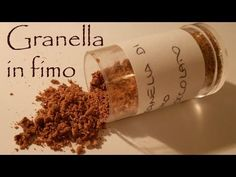 tutorial: granella cioccolato in fimo - polymer clay cocoa chocolate handmade - YouTube