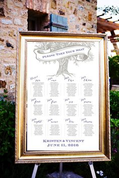 Modern Oak Tree Wedding Seating Assignments Wedding by LCOonEtsy