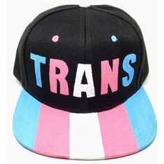 5cff1966b92 Transgender Pride Snapback Hat LGBTQ+ ( 25) ❤ liked on Polyvore featuring  accessories