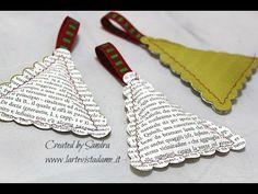 Riciclo creativo Tutorial:Alberelli di carta imbottiti-Christmas Tree-Na...